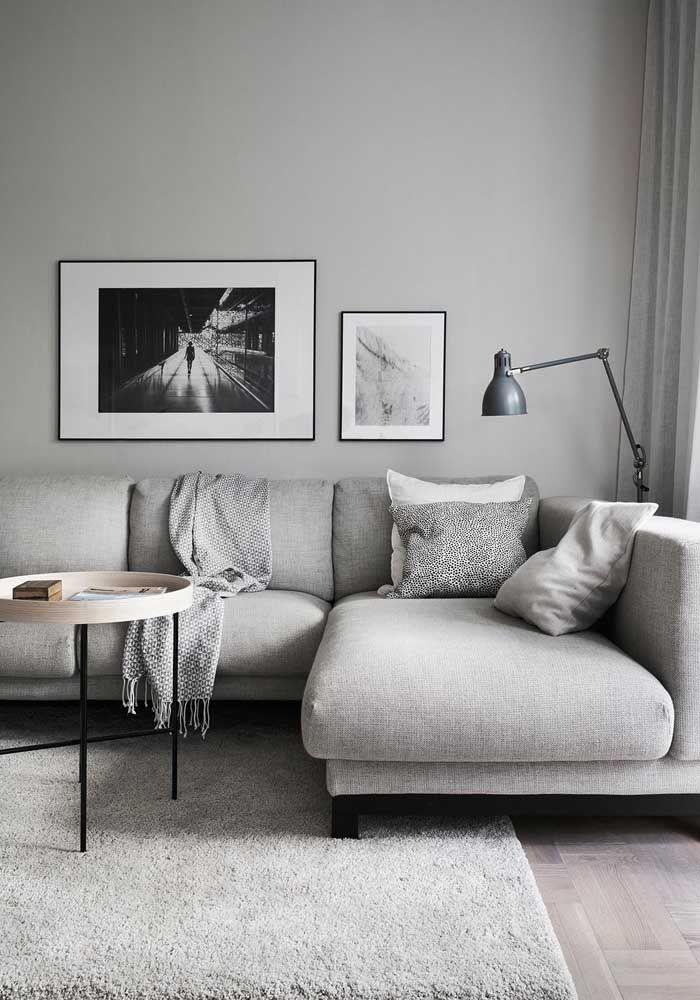 Os minimalistas também se rendem ao charme e conforto do sofá em L