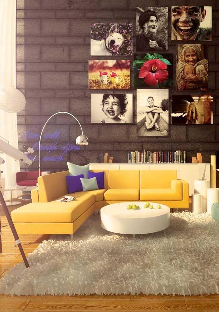 Agora é a vez do amarelo; não é por falta de opções de cores que você vai deixar de ter o seu sofá em L