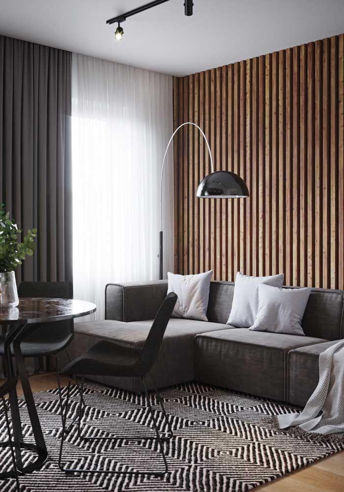 Deixe o sofá em L mais charmoso usando algumas almofadas sobre ele