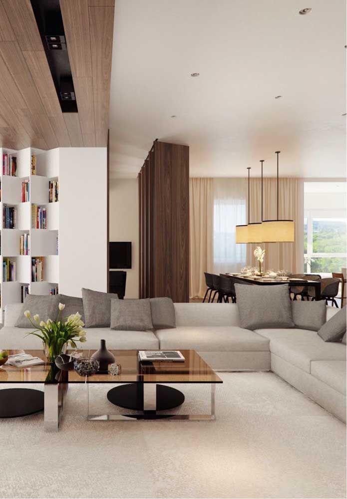De quantos lugares você precisa? Ao escolher o modelo do sofá em L é possível determinar a quantidade de assentos