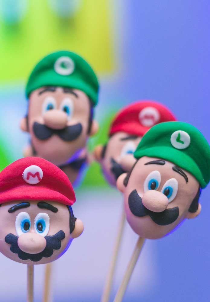 O biscuit é um artesanato excelente para fazer os personagens da Turma do Mario Bros.