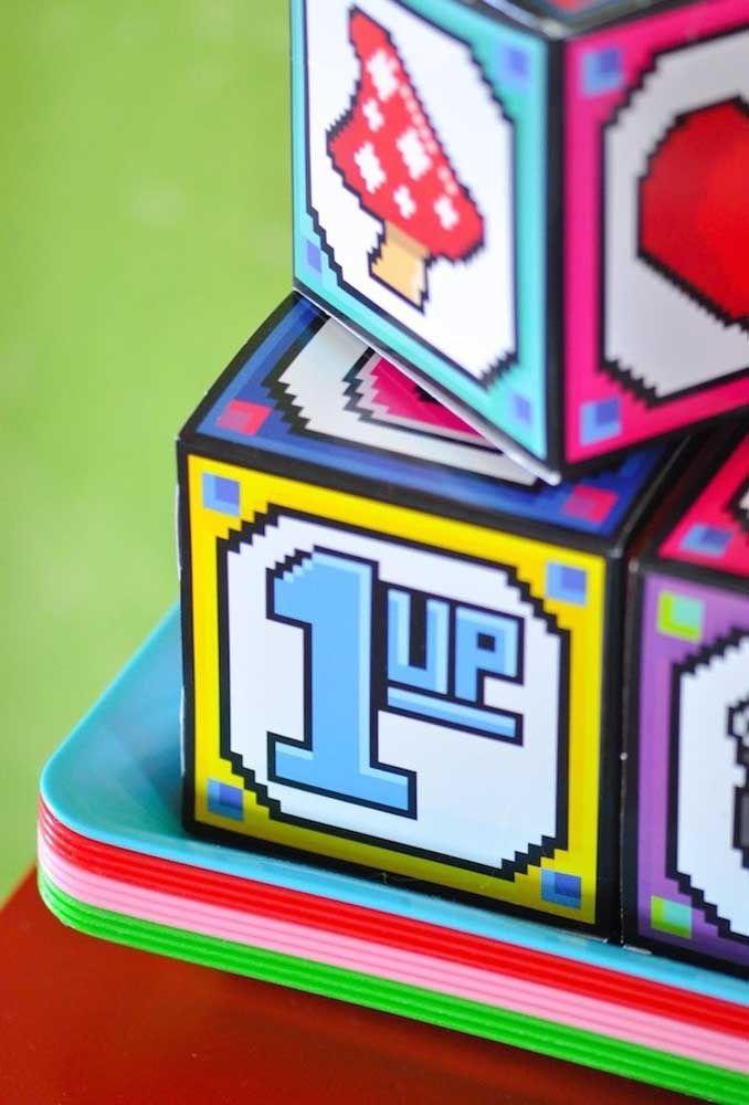 Os elementos do jogo devem estar presentes em cada detalhe da festa.