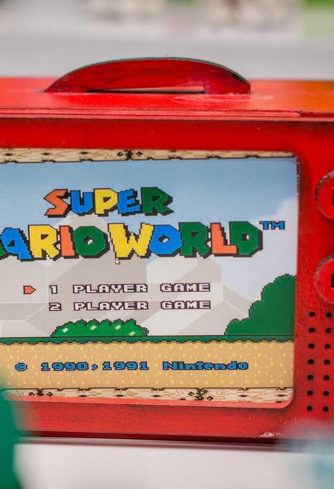 Recicle alguns materiais para relembrar o famoso jogo Mario Bros.