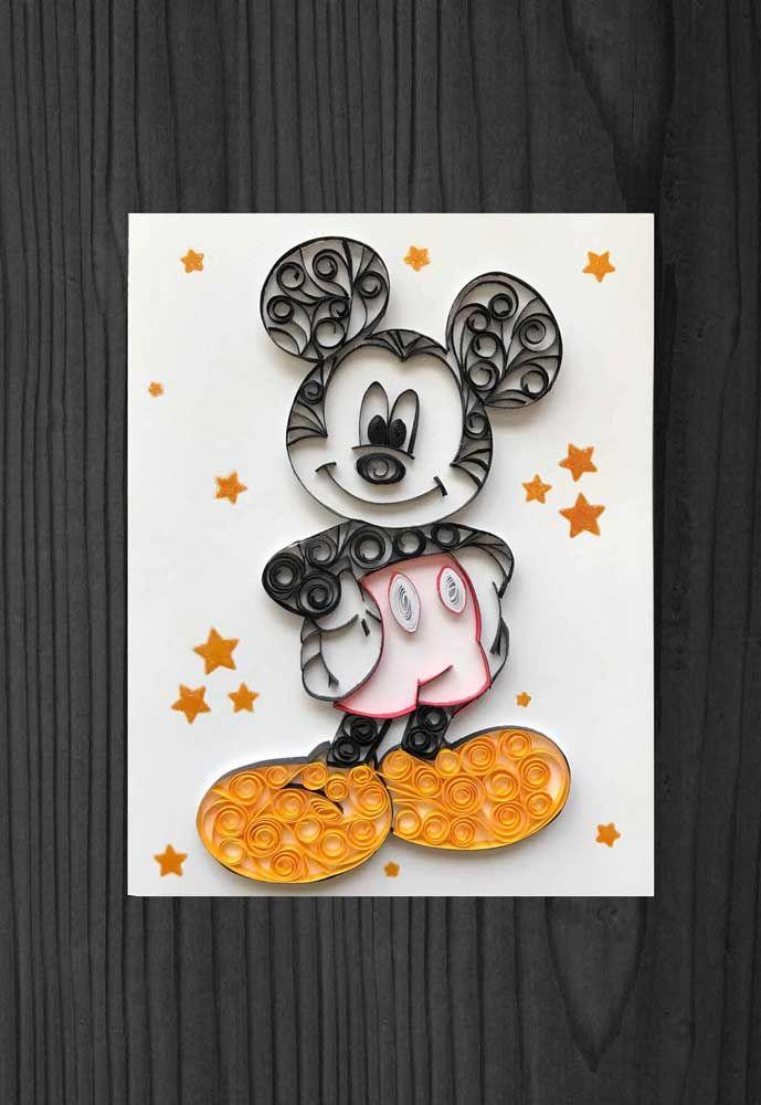 O ratinho mais famoso do cinema também ganhou versão quilling