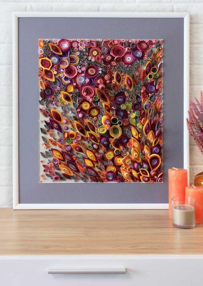 As formas abstratas também rendem belas composições para o artesanato quilling