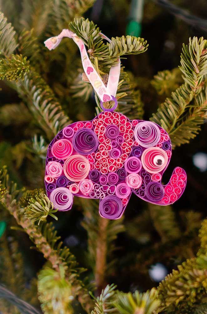 Elefantinhos são sempre uma opção divertida e fofa para artesanato, inclusive o quilling