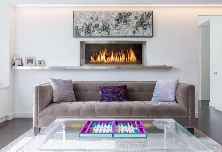 O quilling também é uma opção para quem prefere uma decoração moderna, sóbria e de poucas cores