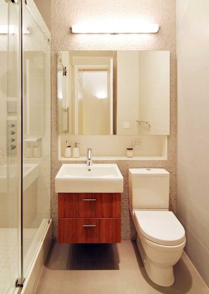 Mesmo os menores dos banheiros sempre podem contar com a ajuda sob medida dos nichos