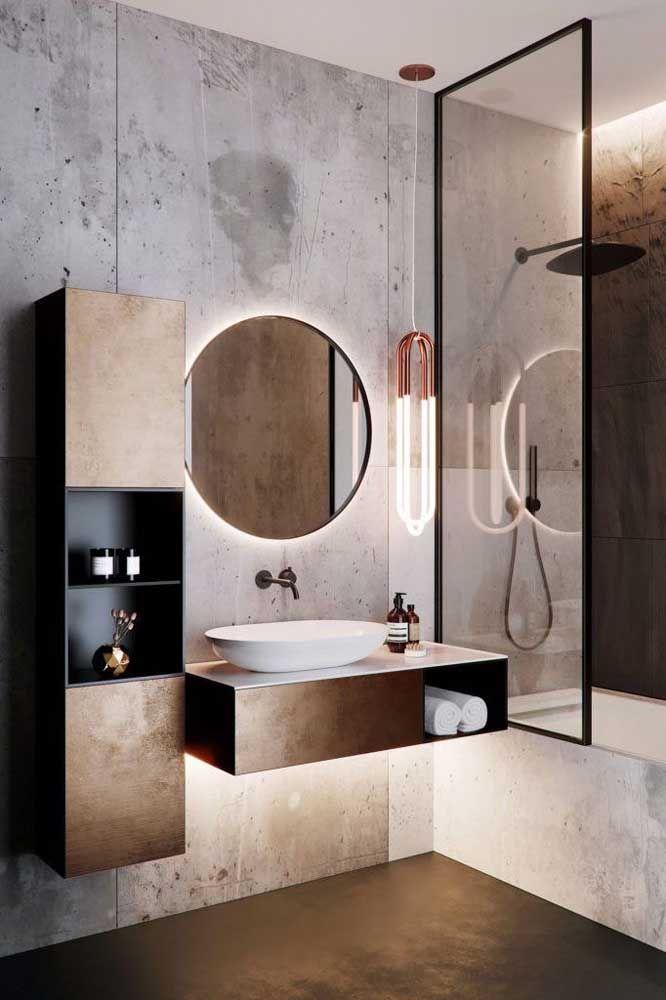 Achou que o banheiro de estilo industrial ia ficar de fora dessa seleção de decoração com nichos?