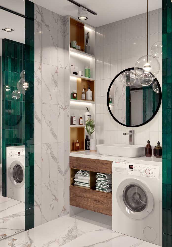 Paredes vazias aí no seu banheiro? Use-as para colocar nichos e deixar o espaço mais bonito e funcional