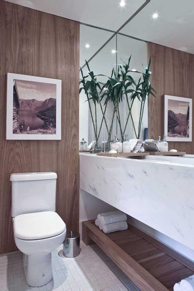 O bambu da sorte traz um clima zen e de SPA quando colocado no banheiro
