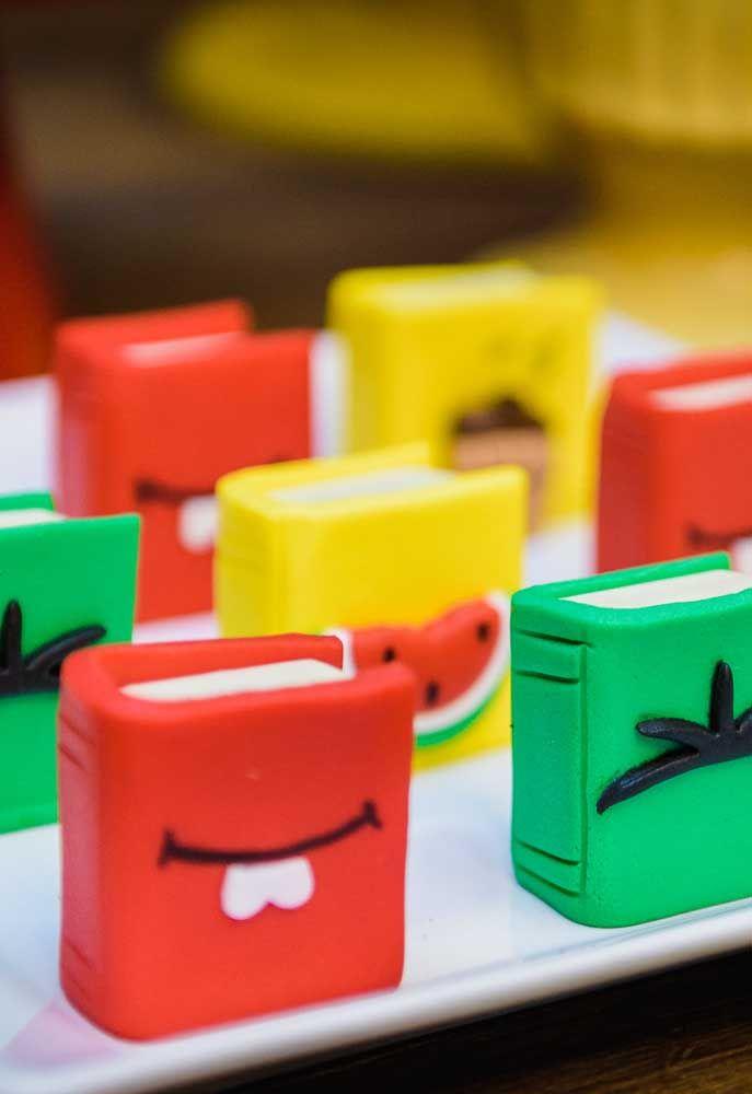 É possível fazer vários formatos de doces usando o tema Turma da Mônica.