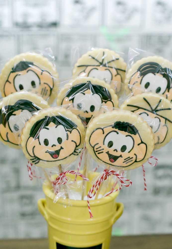 Personalize com os rostinhos dos personagens da Turma da Mônica as guloseimas da festa.