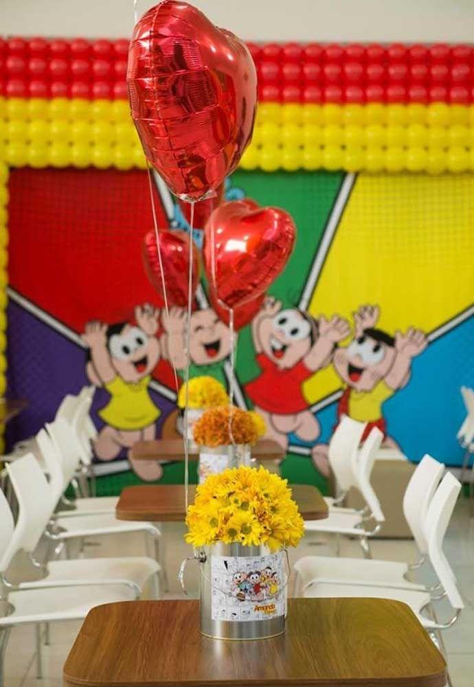 Uma bela decoração feita com balões nunca sai de moda.