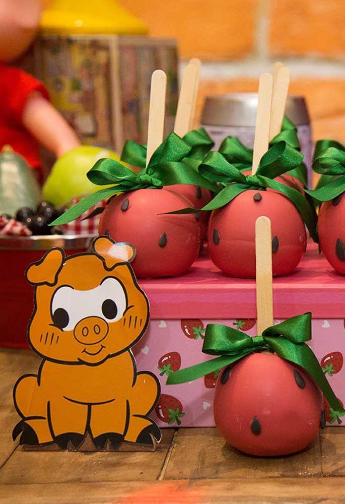 Troque a maçã do amor pela melancia do amor.