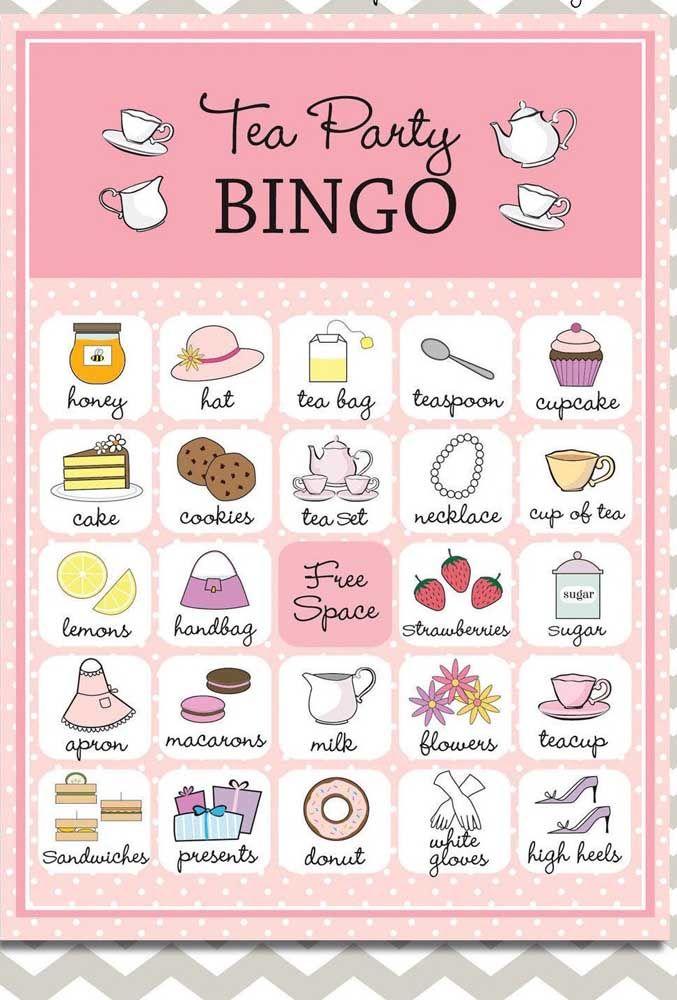 Chá da tarde combina com o quê? Bingo!