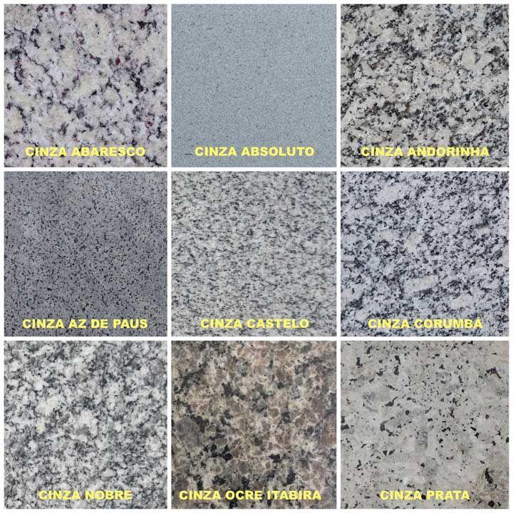 Tipos de granito cinza