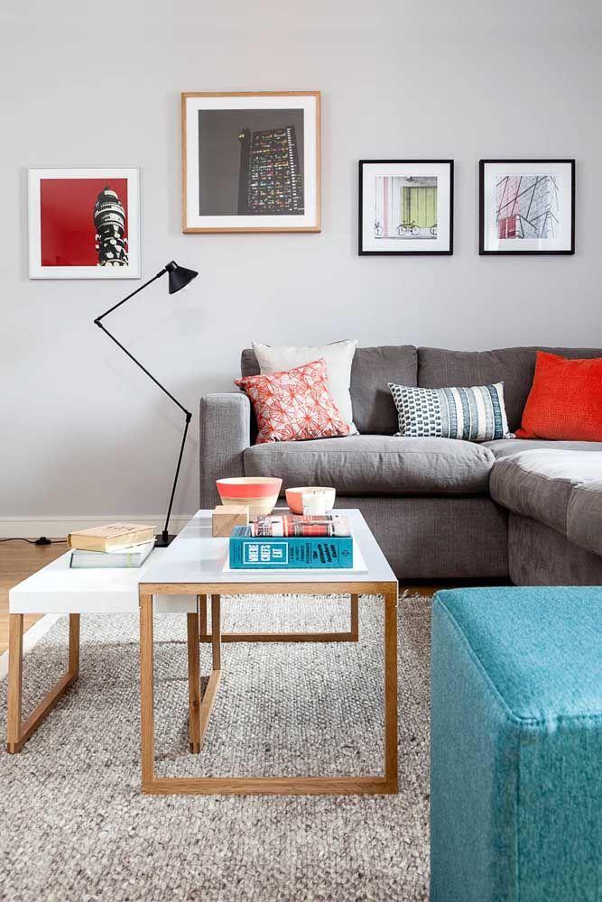 Sala com paleta de cores bem definida