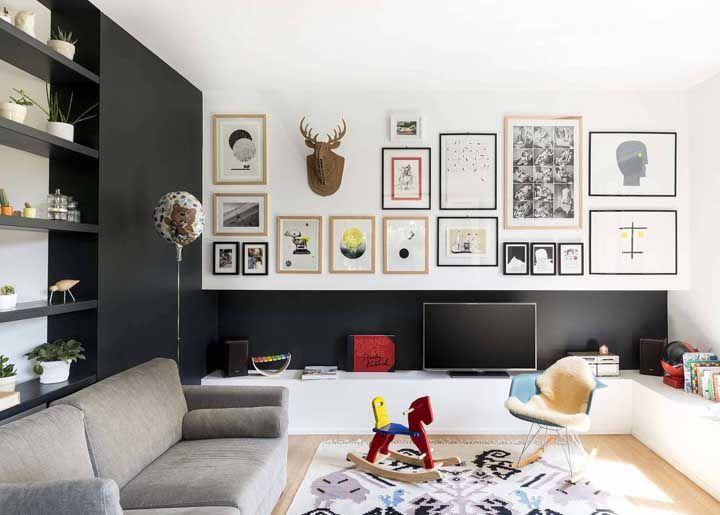 Que tal mesclar uma decoração adulta e infantil na sala? Assim você contempla todos os moradores da casa
