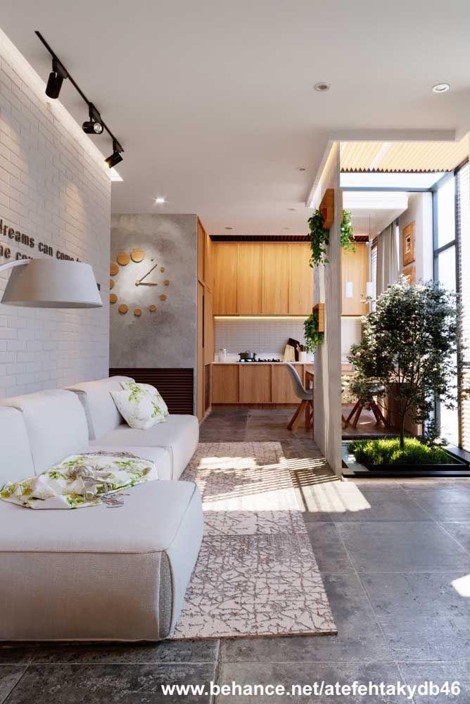 Jardim de inverno entre a cozinha e a sala