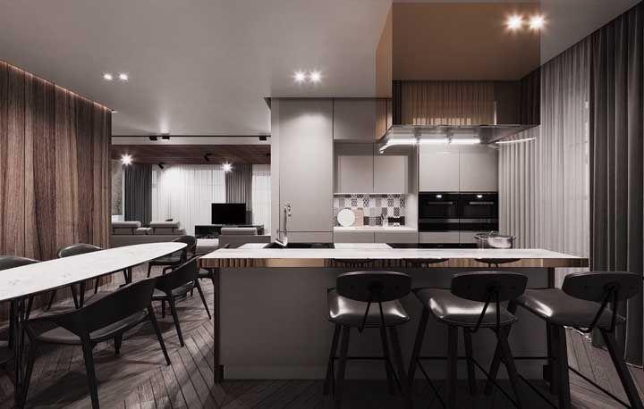 A maior marca da arquitetura moderna é a integração entre os ambientes