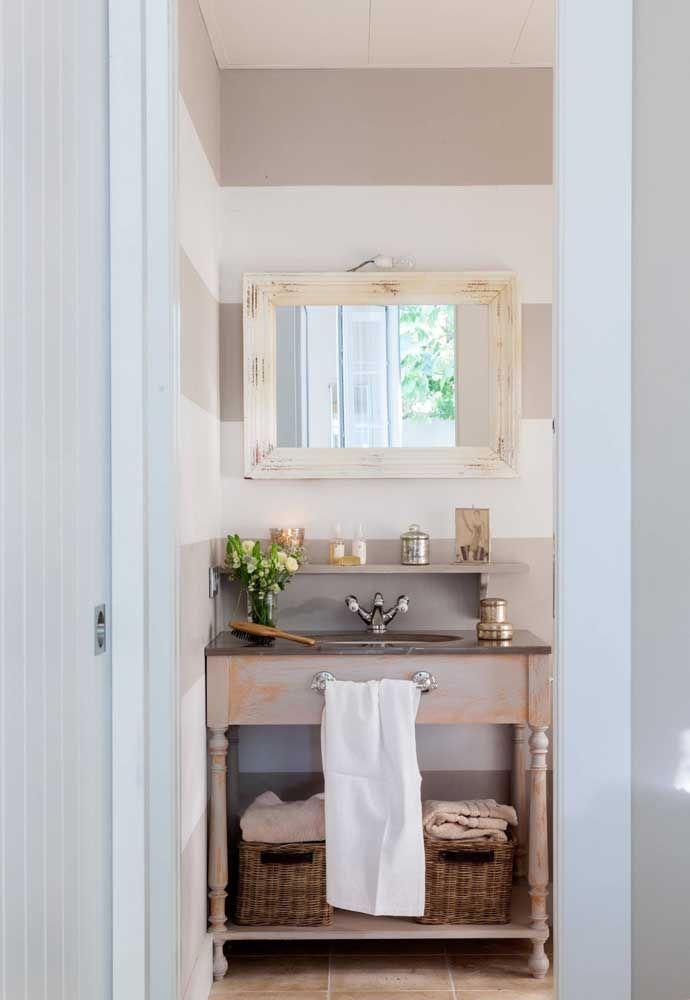 Não sabe como deixar o seu lavabo mais interessante? Decore-o no estilo Shabby Chic