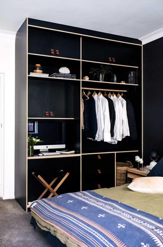 Closet e estante: um único móvel para várias funções