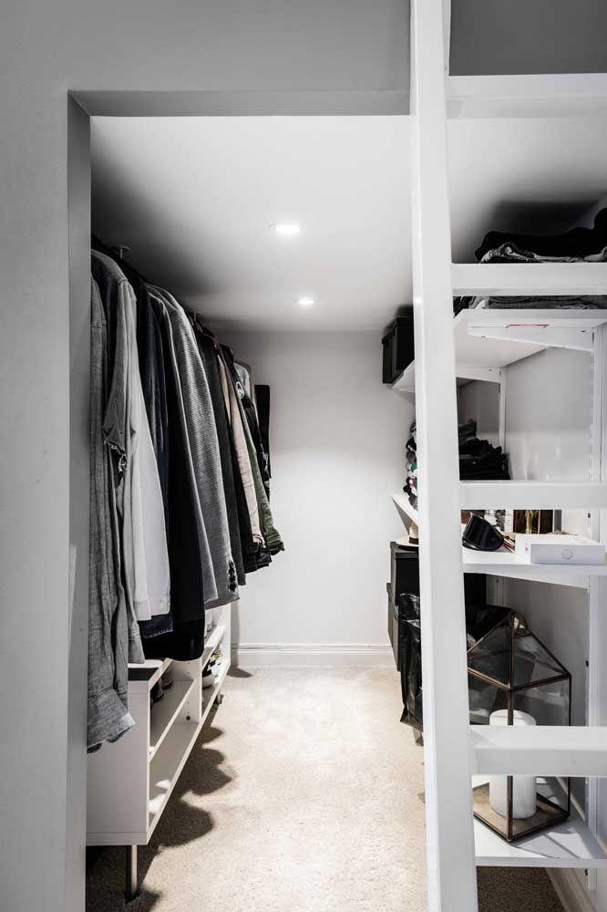 Closet corredor: com planejamento todo espaço se transforma