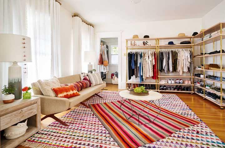 O que acha de um closet na sala?