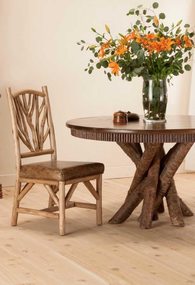 Da natureza direto para dentro de casa: esse conjunto é bem mais do que um móvel rústico, é praticamente uma escultura