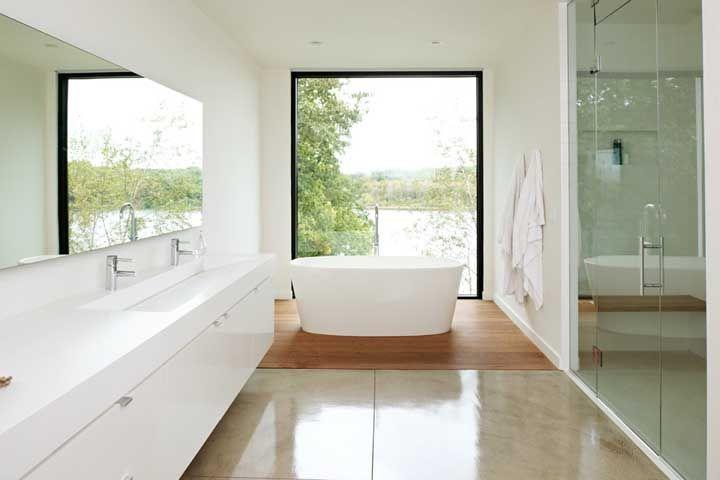 A aparência lisa e uniforme do Corian é ideal para ambientes minimalistas