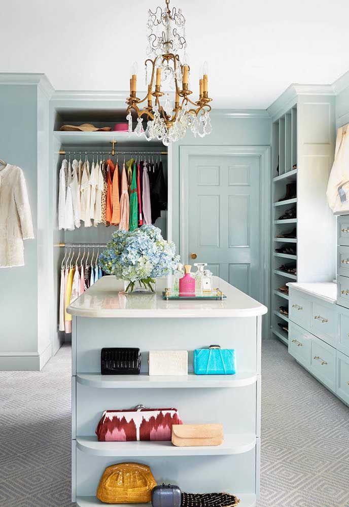 Toque de glamour no closet