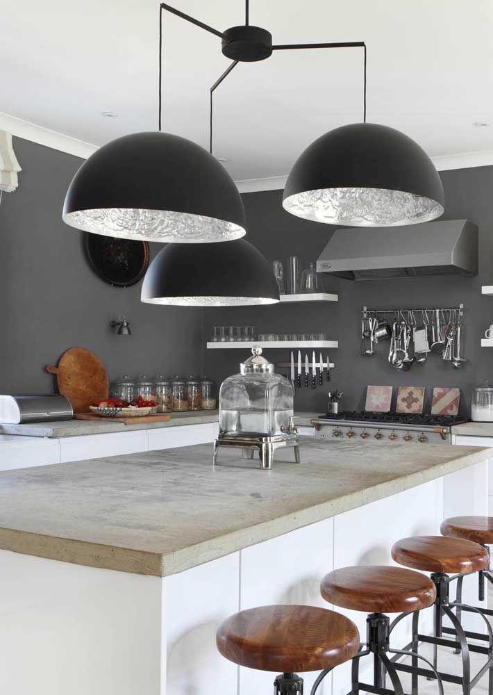 Lustres maiores para cozinhas grandes