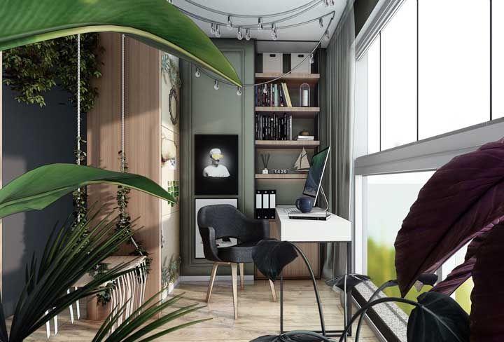 Decore o seu home office / sacada como se ele estivesse dentro de casa