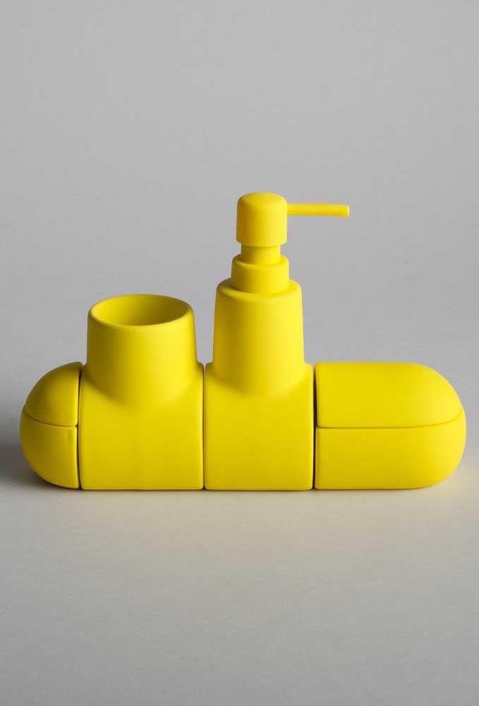 Os fãs de Beatles vão amar essa saboneteira inspirada no sucesso Yellow Submarine