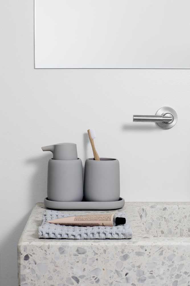 A cor cinza é a garantia da simplicidade e modernidade desse kit