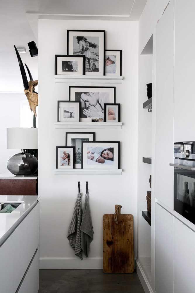 Fotos na parede da cozinha: um ótimo lugar para compartilhar os bons momentos