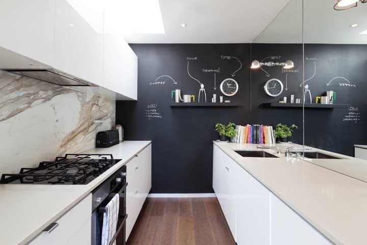A parede lousa tem se tornado uma das opções preferidas de decoração
