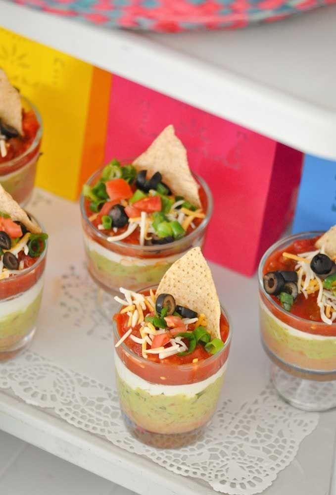 Porções individuais e muito charmosas de guacamole