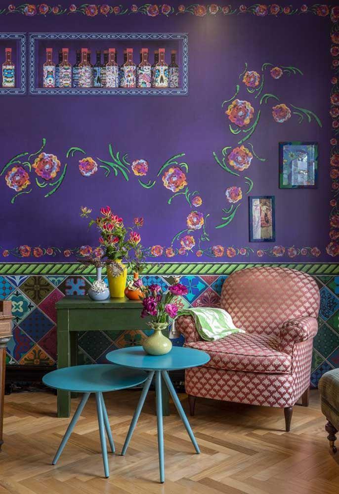 Muitas cores para deixar o ambiente a cara da cultura mexicana