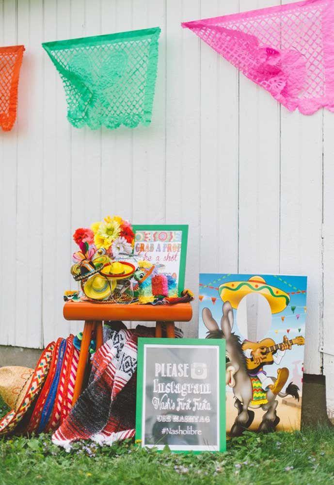 Com simplicidade e criatividade é possível organizar uma festa mexicana linda e divertida