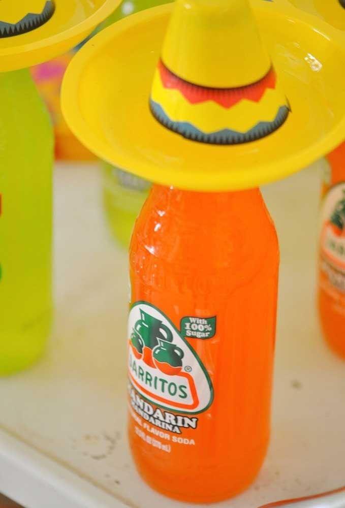 Nessa festa mexicana até as bebidas vem a caráter