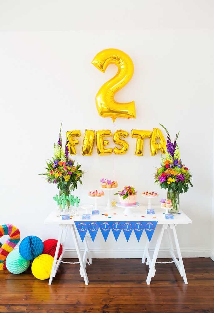 A simplicidade dá o tom dessa festa mexicana infantil