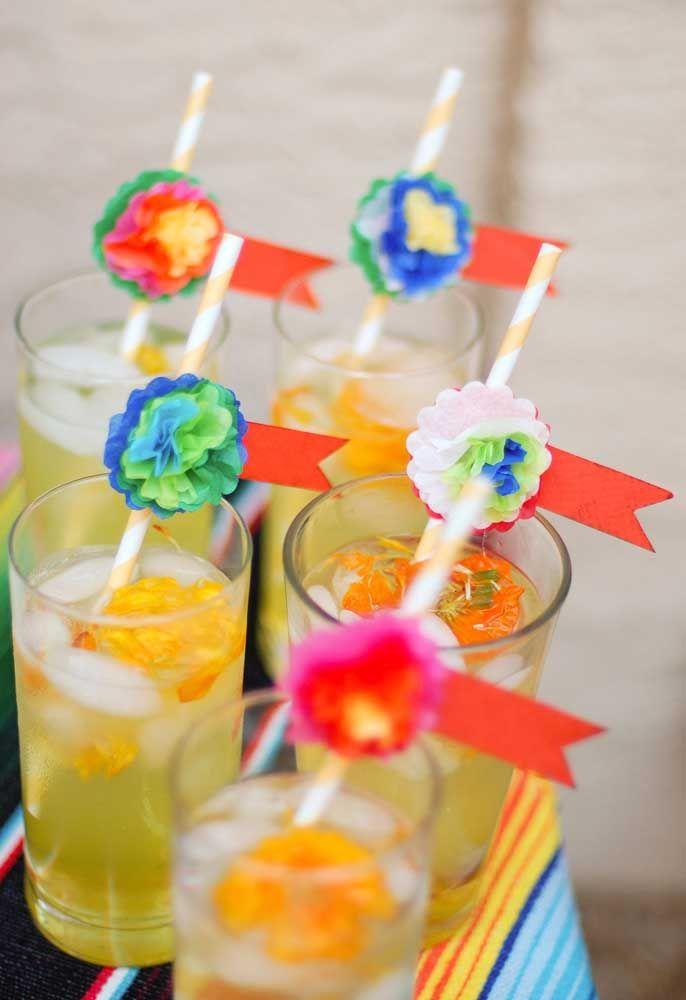 Capriche no visual das bebidas para a festa mexicana