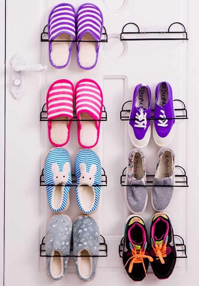 Um aramado para cada sapato, você monta a sapateira de acordo com a sua necessidade