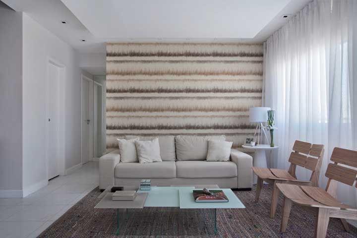 Textura palha diferenciada na parede para fugir cem por cento do básico