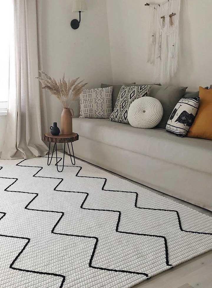 Versão em crochê do tradicional tapete escandinavo, lindo de viver!