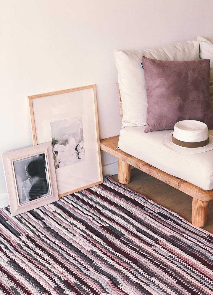 Traga as cores da decor para o tapete de crochê