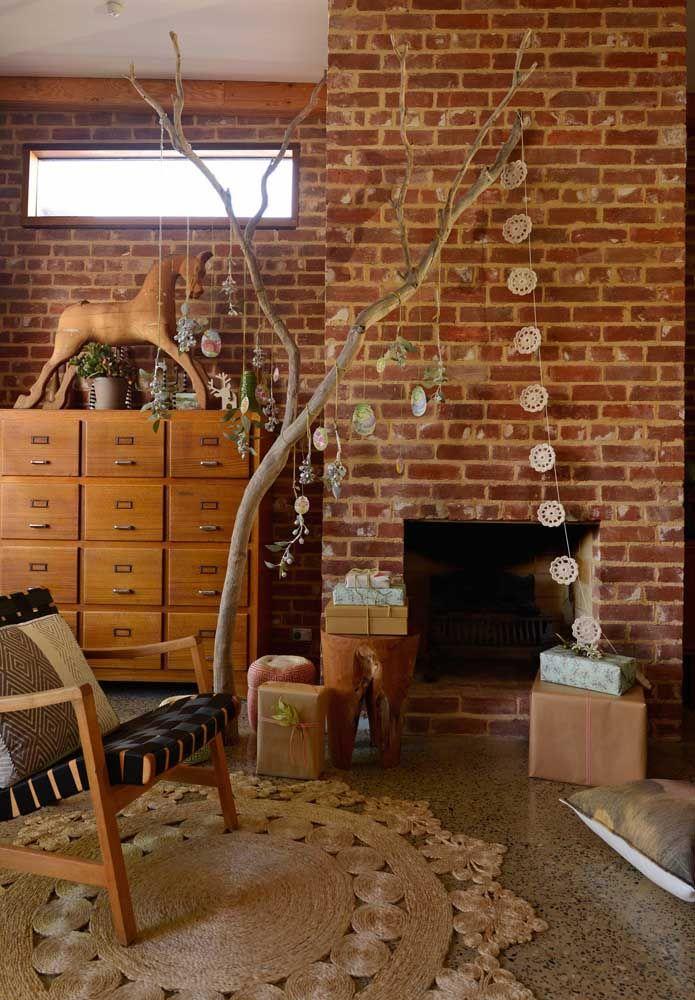 Classe, estilo e elegância nessa sala com o tapete de crochê redondo
