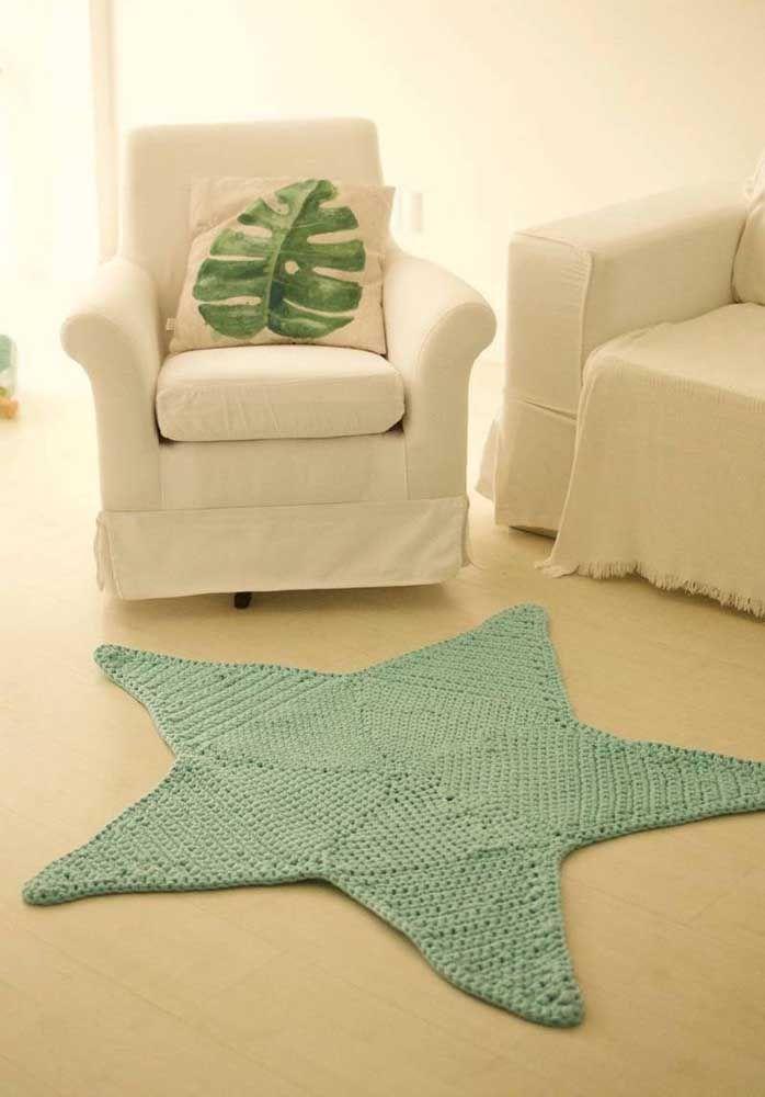 Em formato de estrela: está aí uma prova da versatilidade do crochê